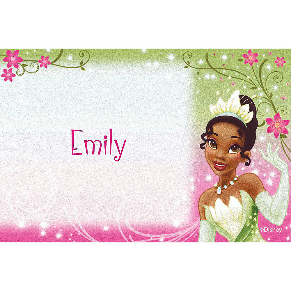 Custom Princess & the Frog Tiana Thank You Notes Image #1