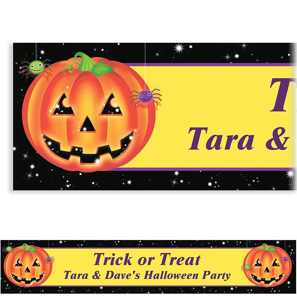 Custom Perfect Pumpkin Halloween Banner 6ft Image #1