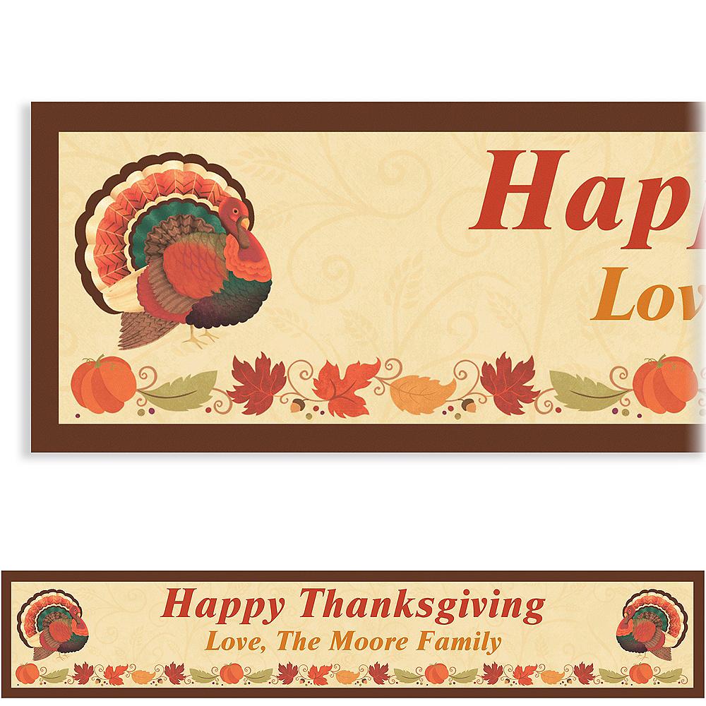 Custom Thanksgiving Holiday Banner 6ft Image #1