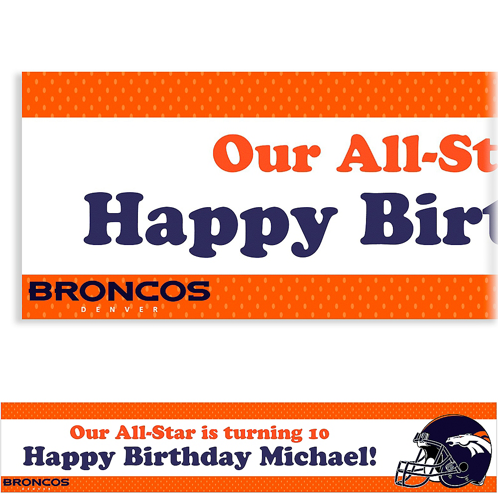 Custom Denver Broncos Banner 6ft Image #1