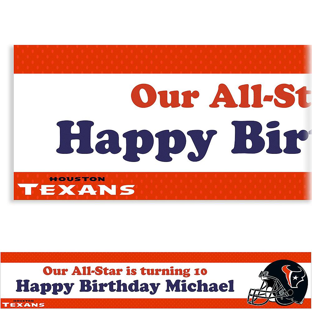 Custom Houston Texans Banner 6ft Image #1