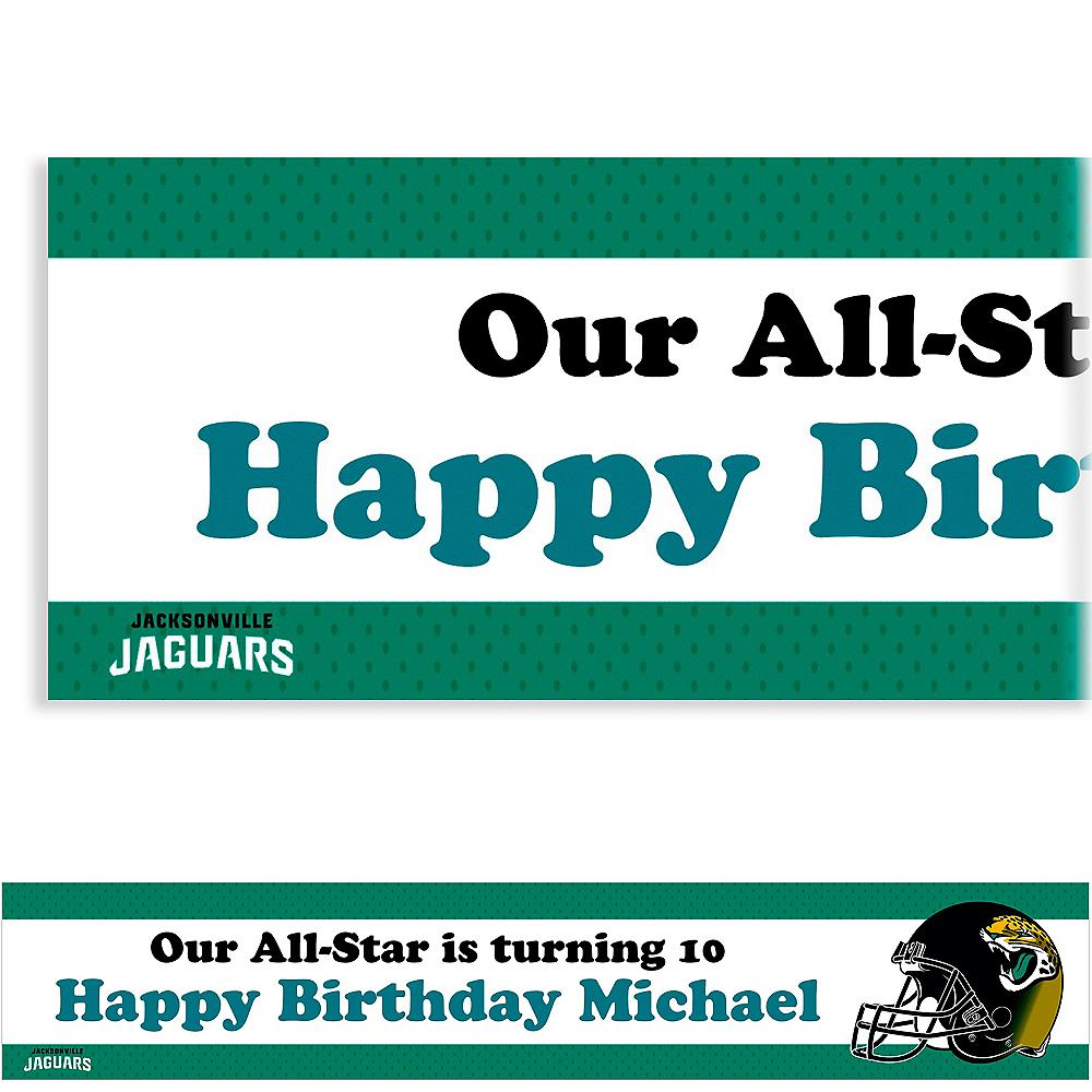 Custom Jacksonville Jaguars Banner 6ft Image #1