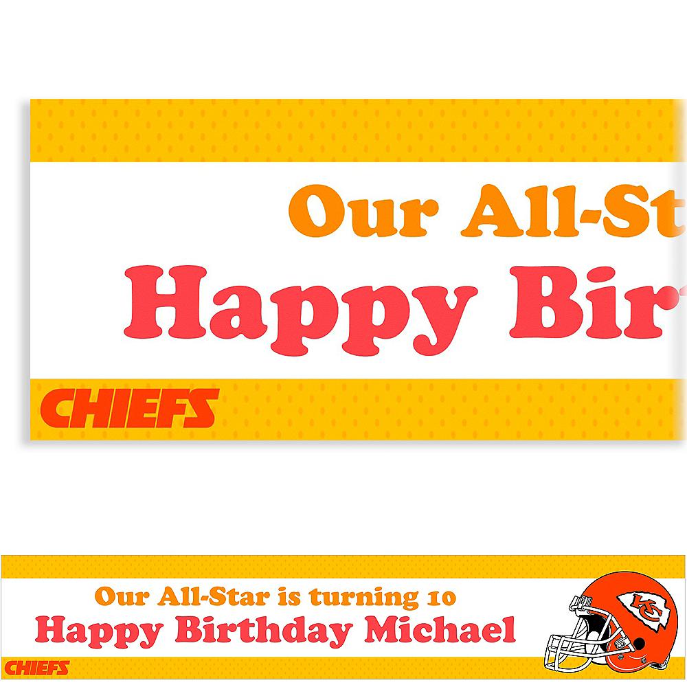 Custom Kansas City Chiefs Banner 6ft Image #1