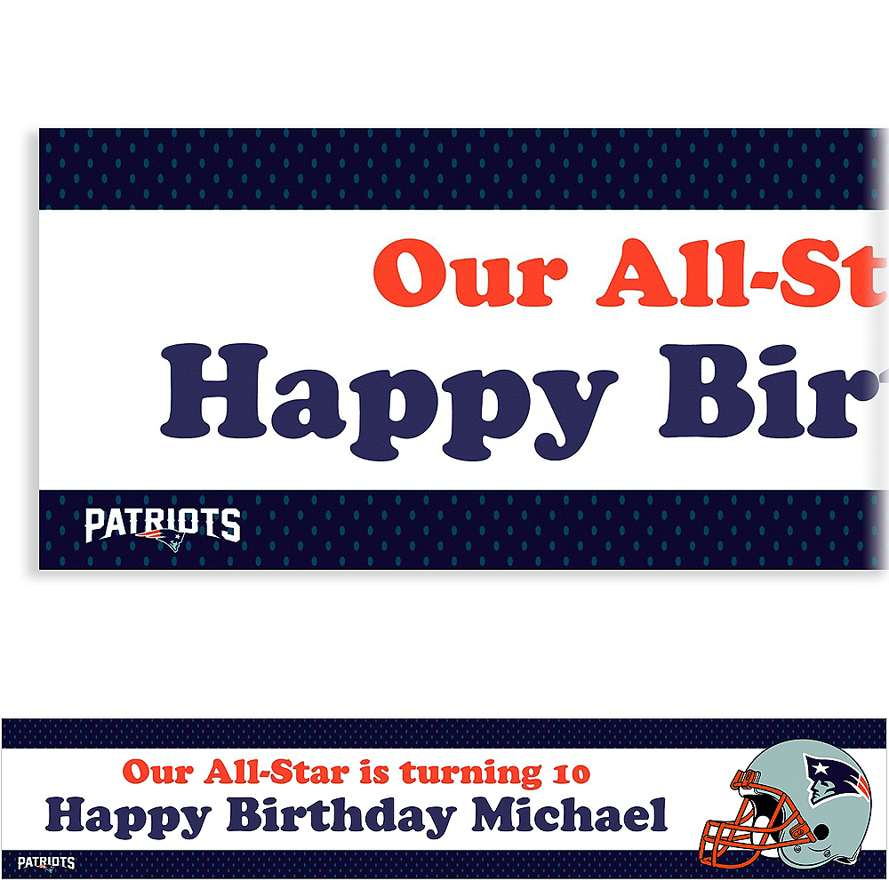 Custom New England Patriots Banner 6ft Image #1