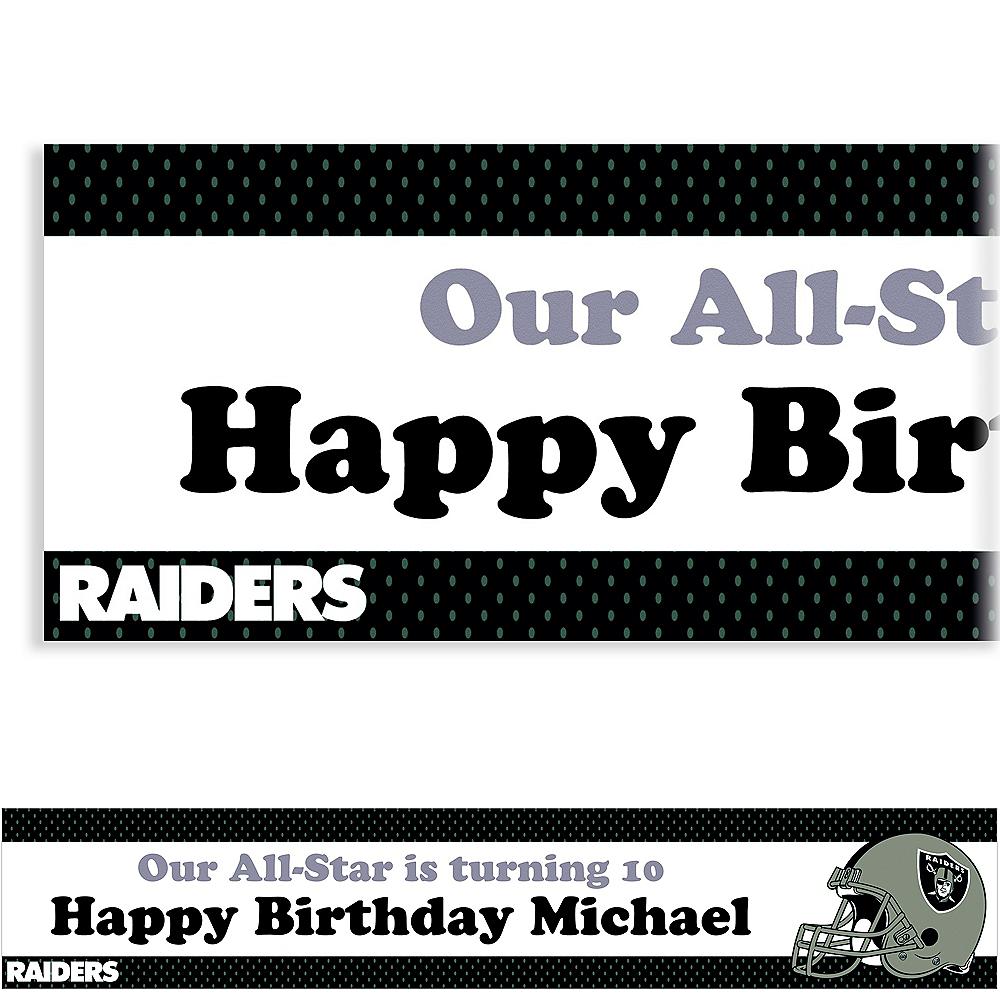 Custom Oakland Raiders Banner 6ft Image #1