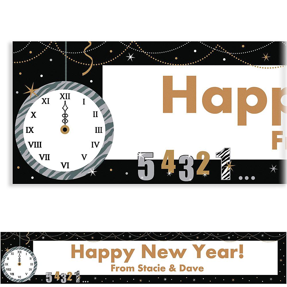 Custom Wild Countdown New Year's Banner 6ft Image #1