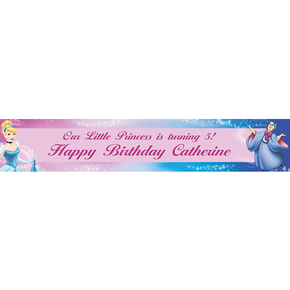 Custom Cinderella Banner 6ft | Party City