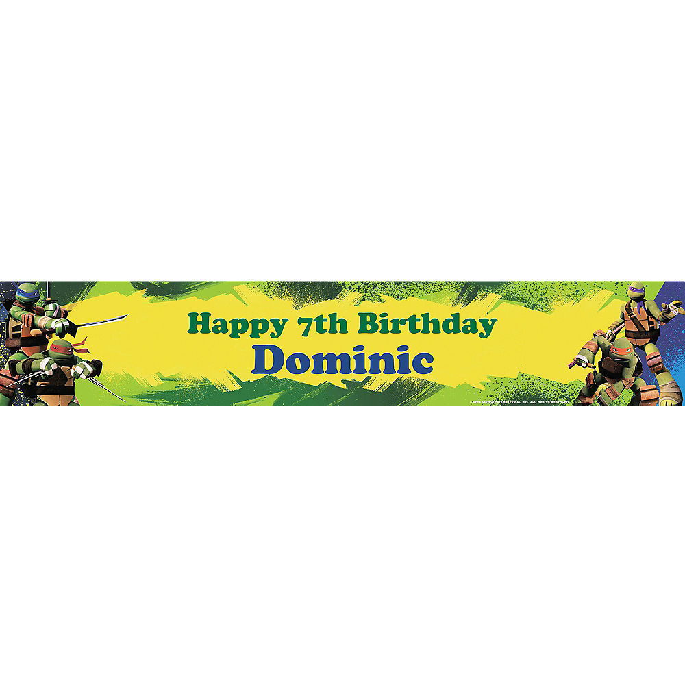 Custom Teenage Mutant Ninja Turtles Banner 6ft Image #1
