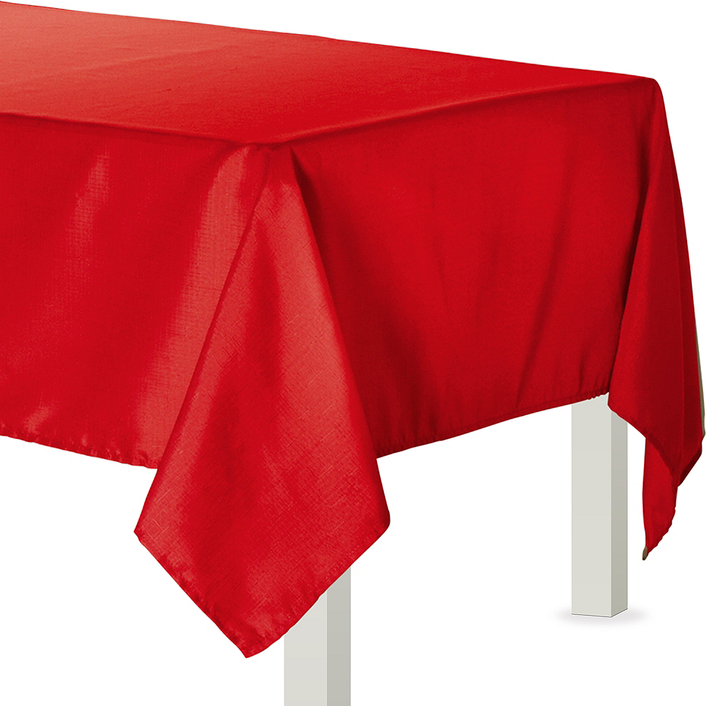 Apple Red Fabric Tablecloth Image #1