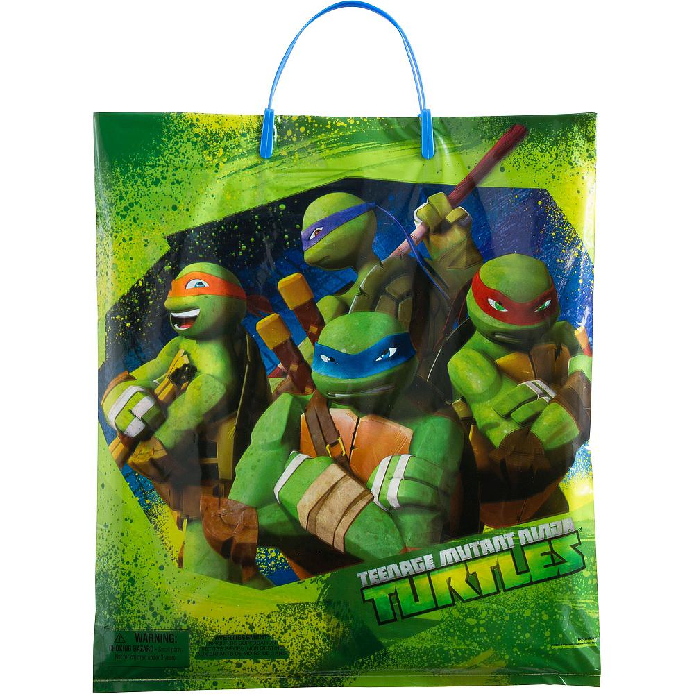 2020 Halloween Trick Or Treat Party City Tmnt Teenage Mutant Ninja Turtles Trick or Treat Bag 14in x 16in