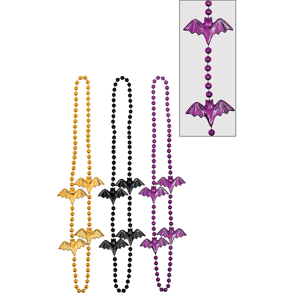 Nav Item for Bat Bead Necklaces 6ct Image #1
