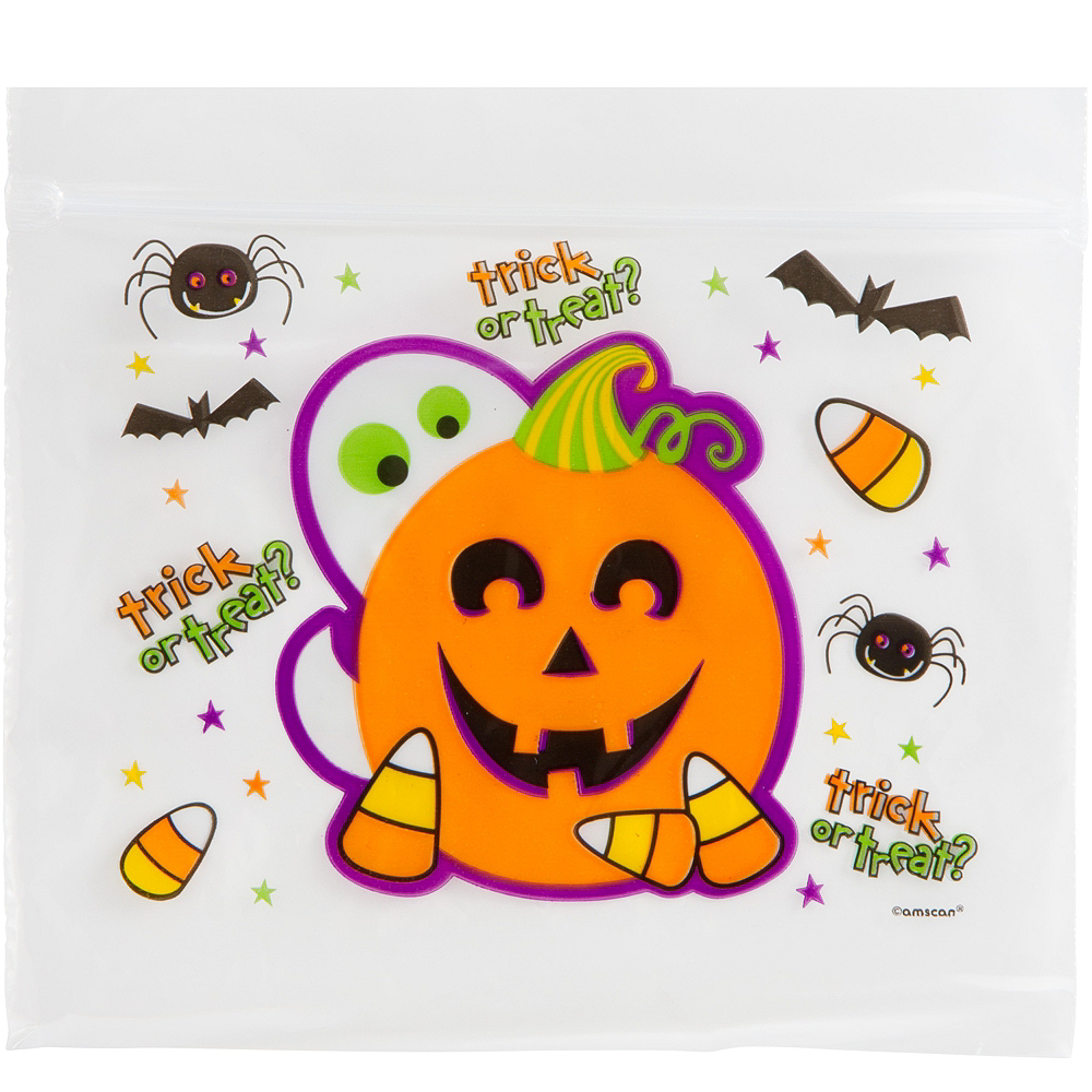 Nav Item for Resealable Cute Halloween Treat Bags 30ct Image #1