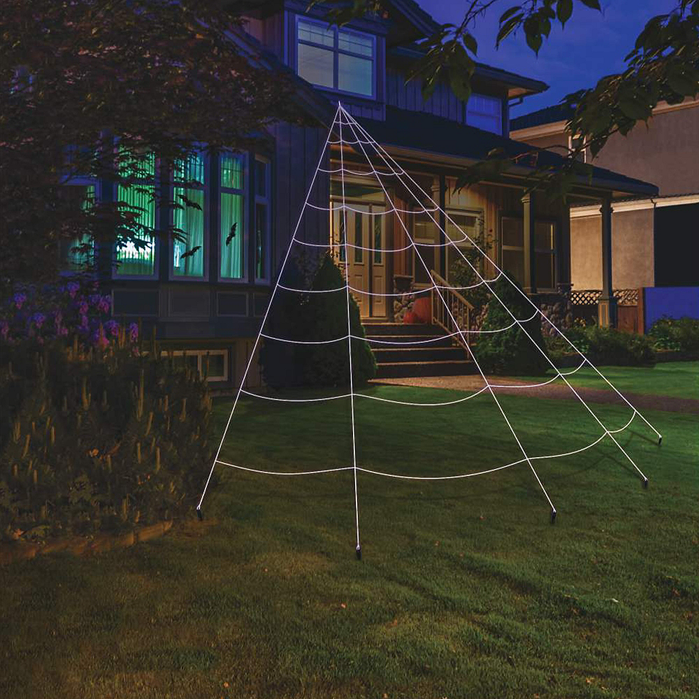 Giant Spider Web Yard Decoration 25ft | Party City