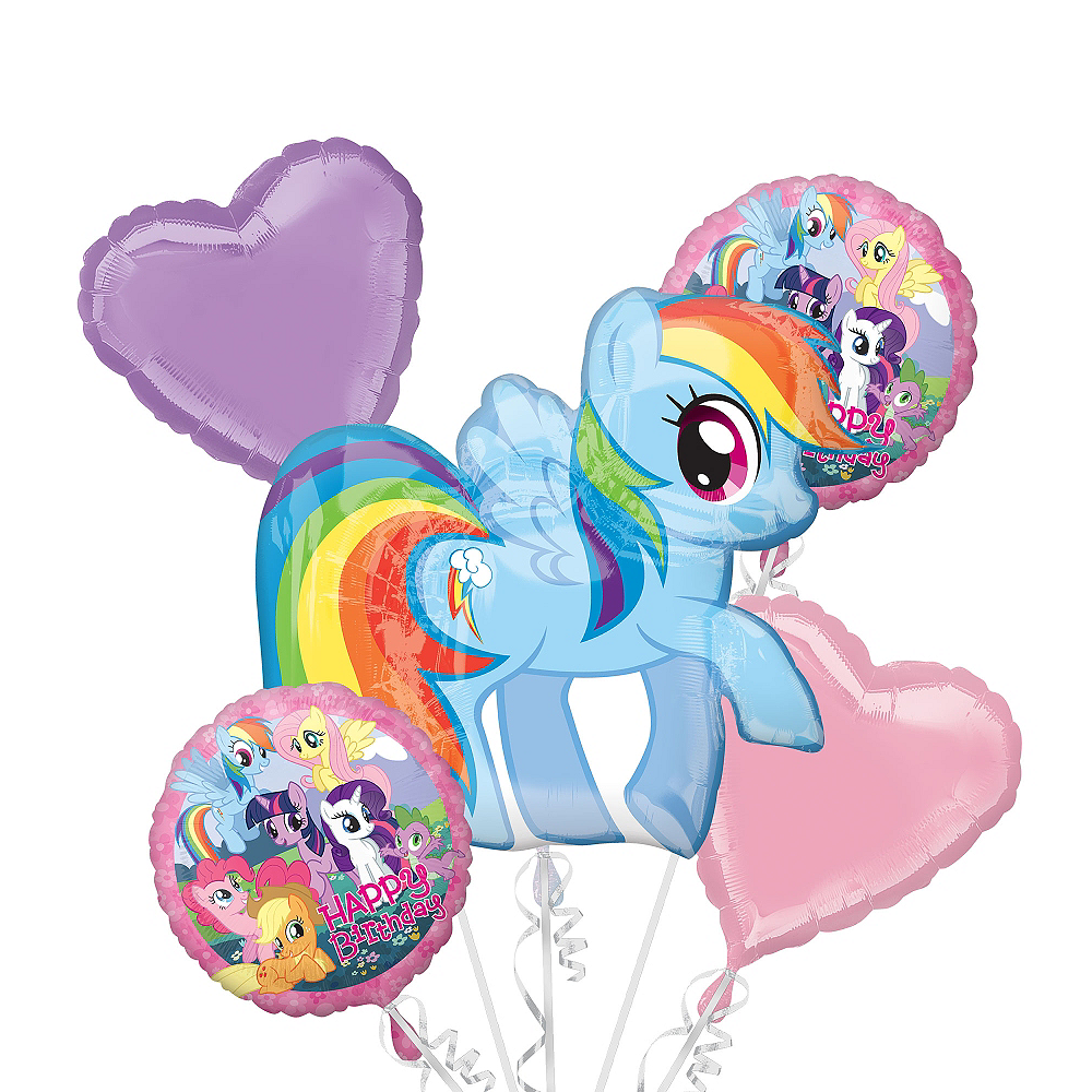 My Little Pony Balloon Bouquet 5pc Image 1