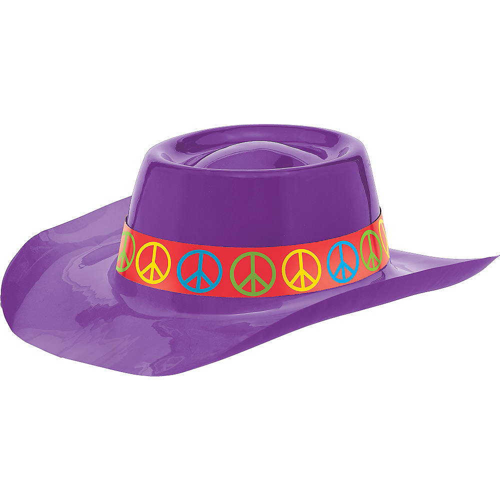 Purple Peace Sign Cowboy Hat Image #1