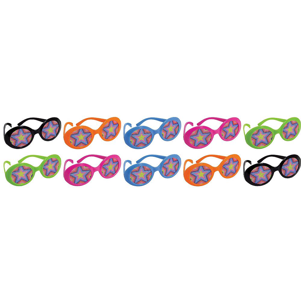 Disco 70s Printed Glasses 10ct Image #1