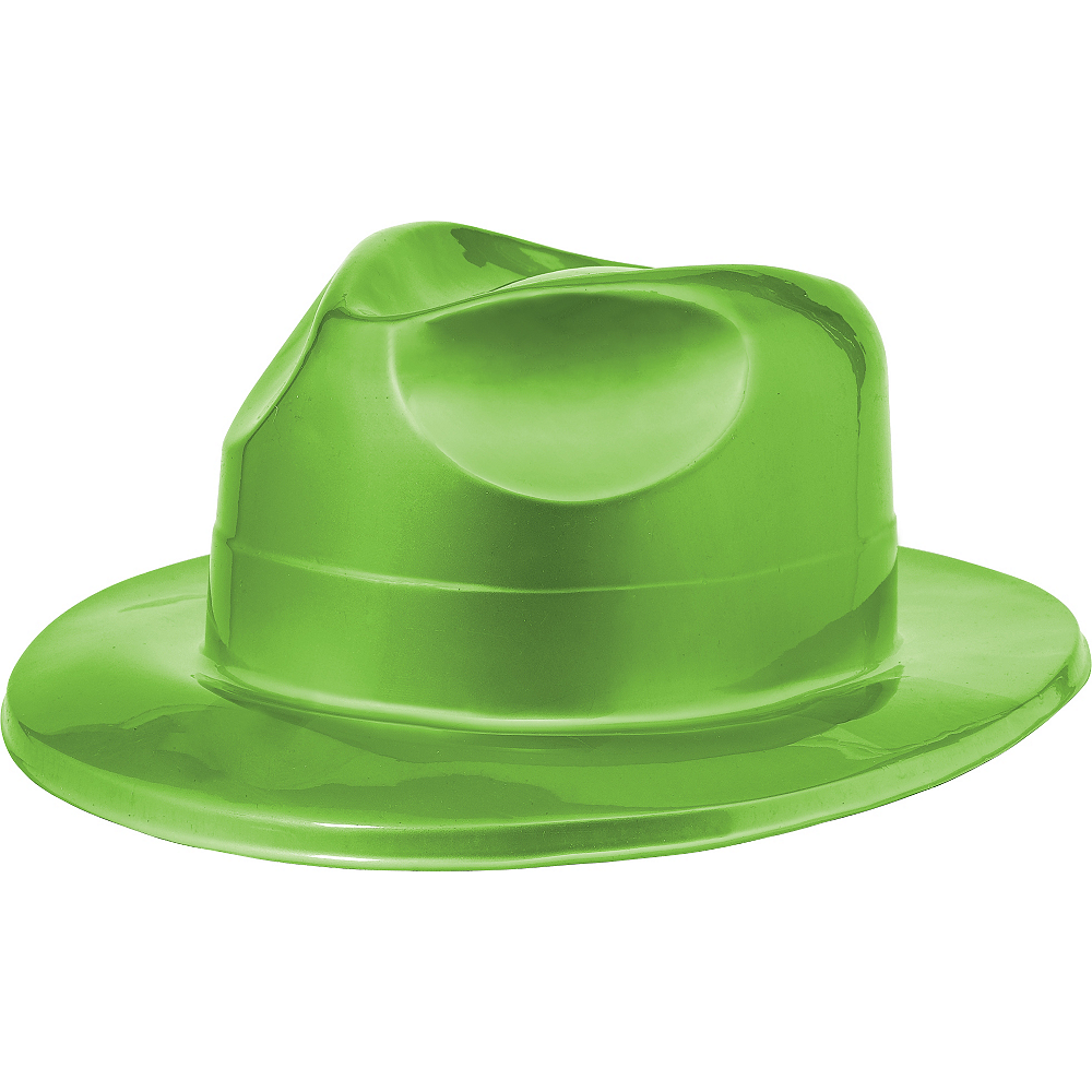 Shiny Green Fedora Image #1