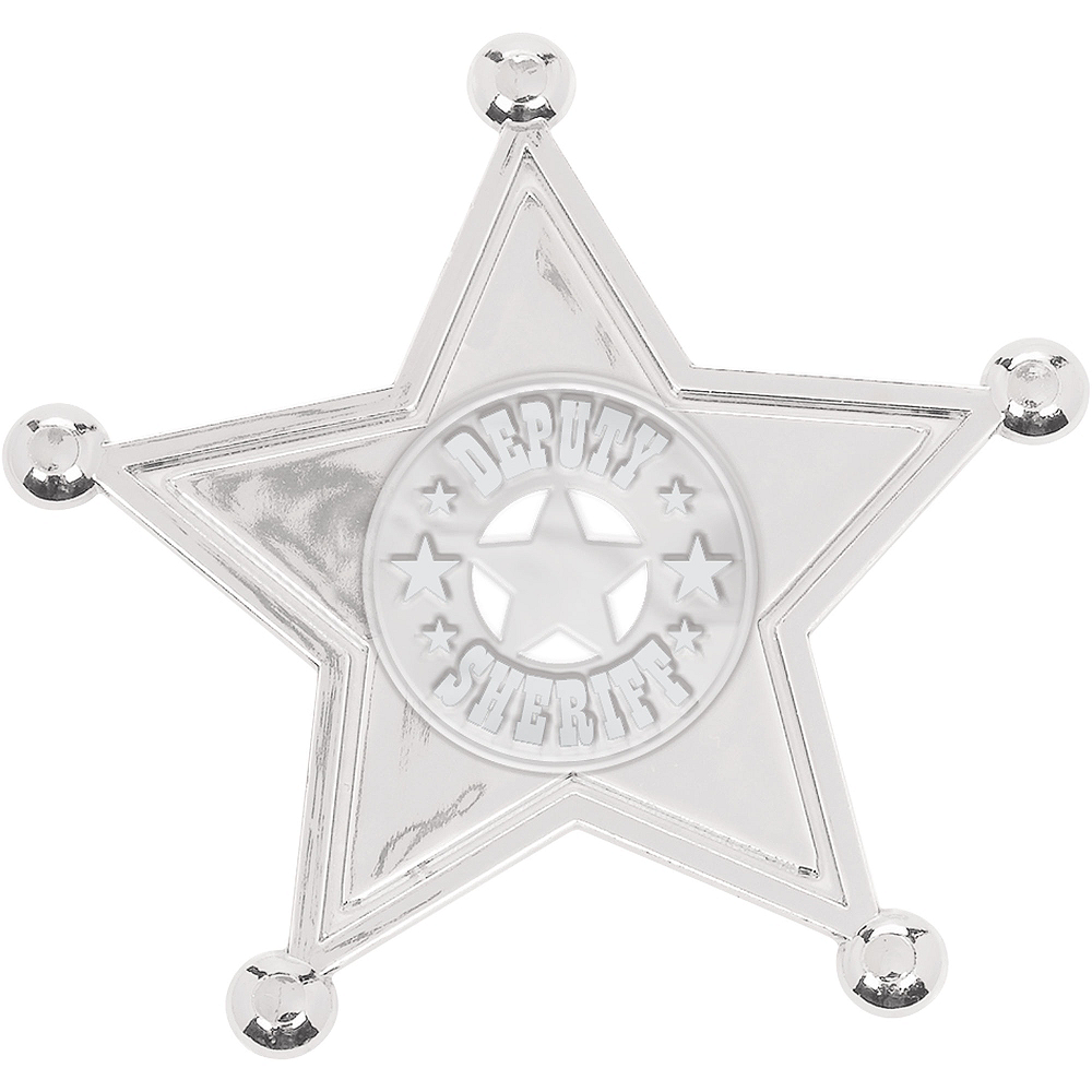 Silver Sheriff Badges 8ct Image #1