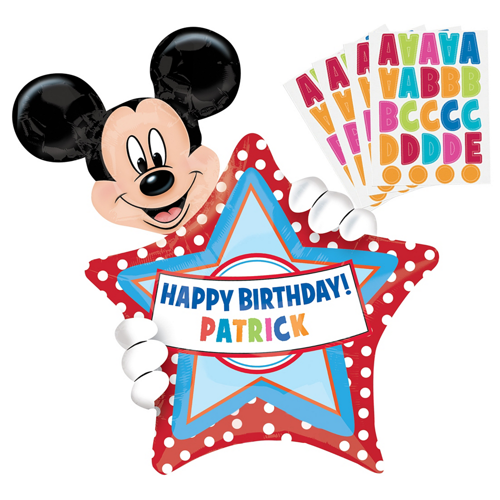 Personalized Mickey Mouse Balloon