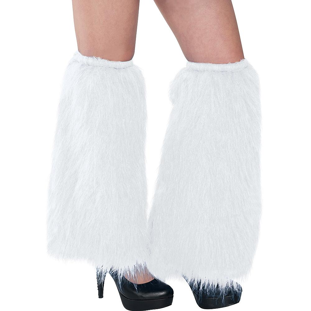 White Furry Leg Warmers Image #1
