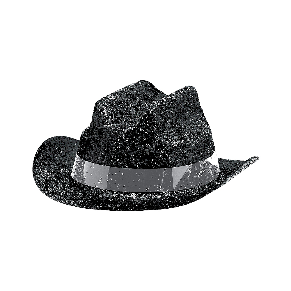 Black Glitter Mini Cowboy Hat Image #2