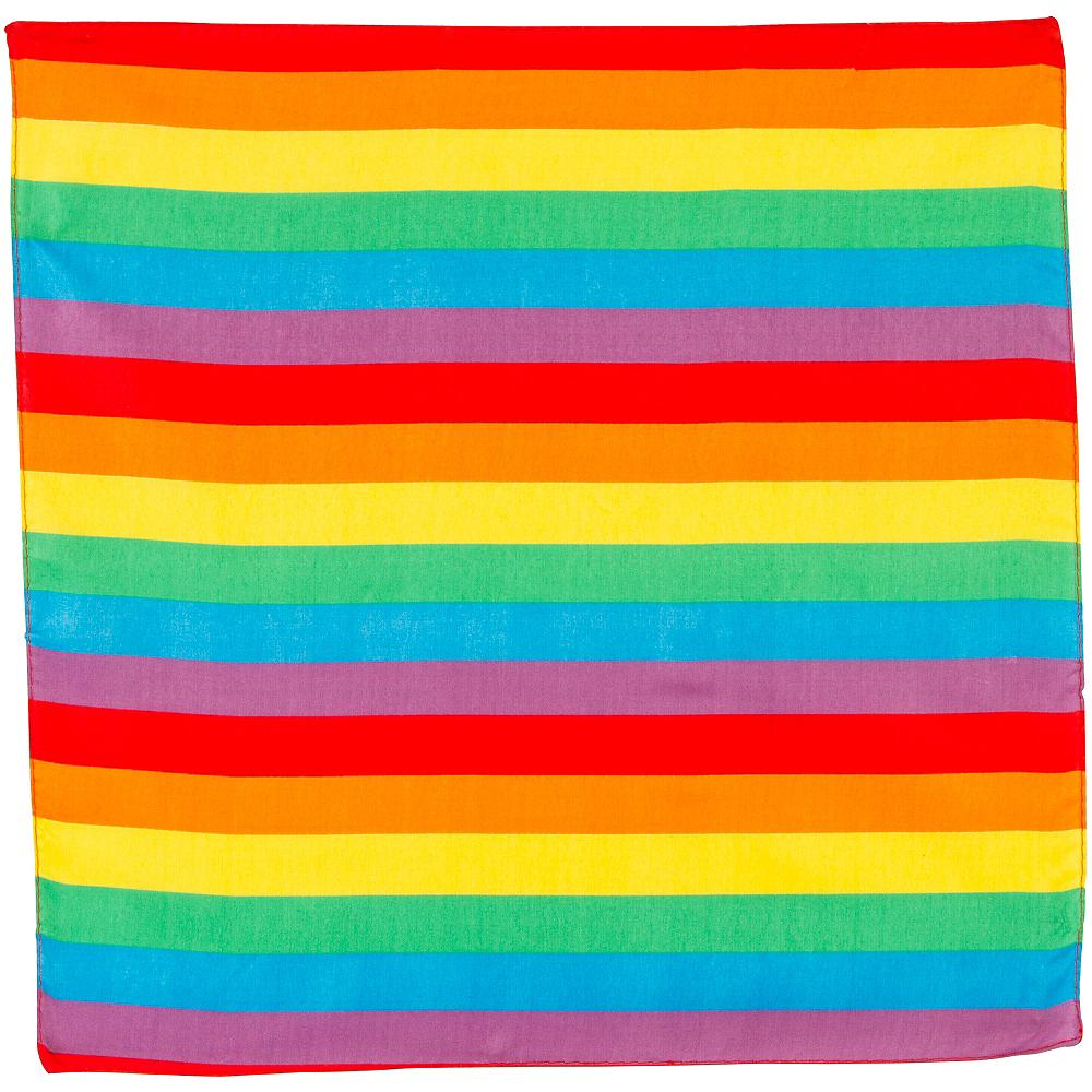 Rainbow Stripe Bandana, 20in x 20in Image #2