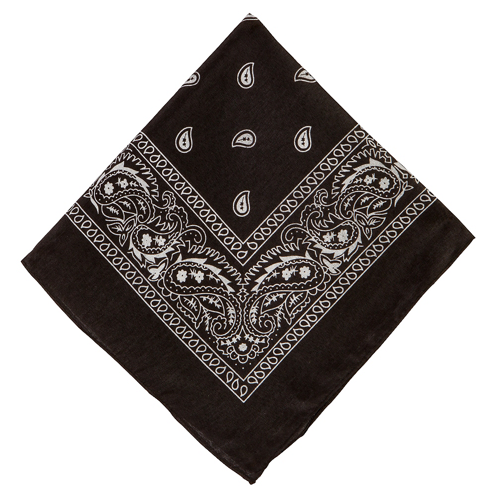 Black Bandana 20in | Party City
