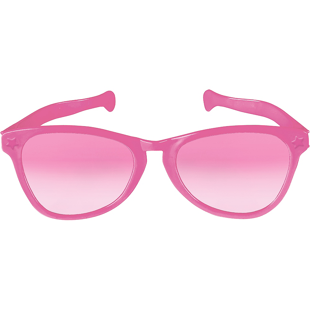 Pink Giant Fun Glasses Image #1