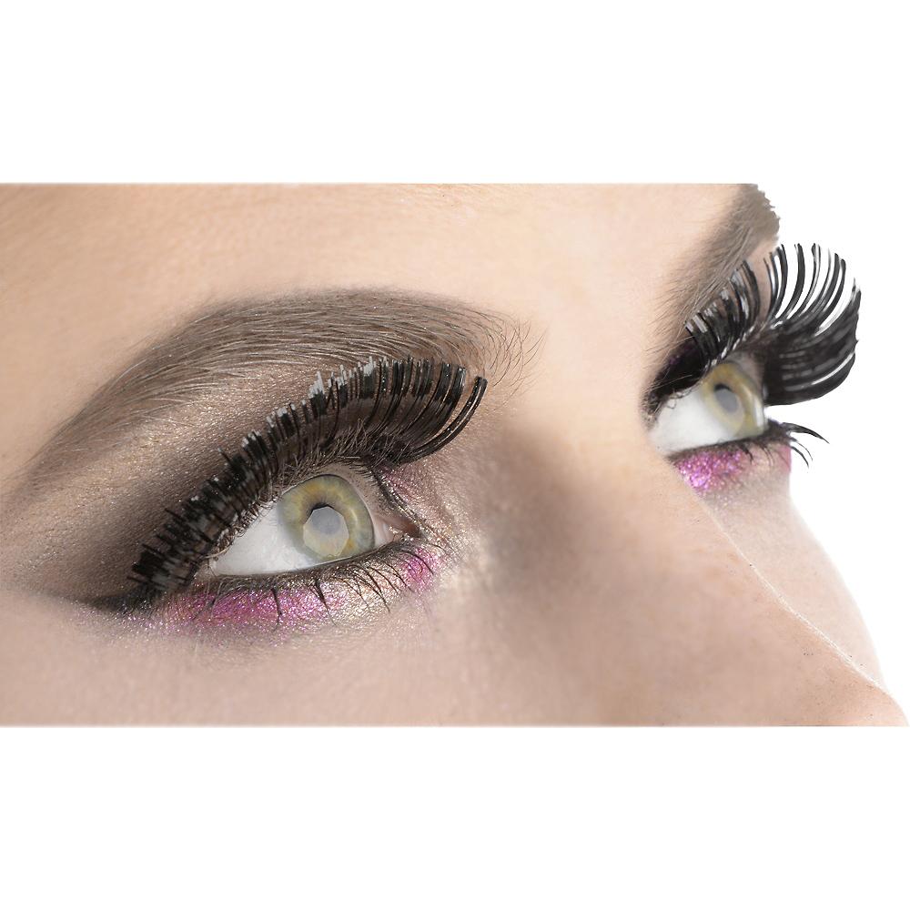 Self-Adhesive Black Tinsel False Eyelashes Image #1