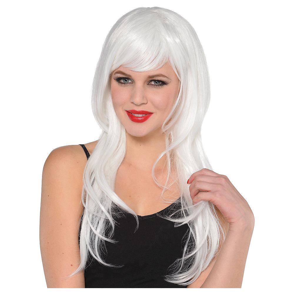 Glamorous Long White Wig Image #1