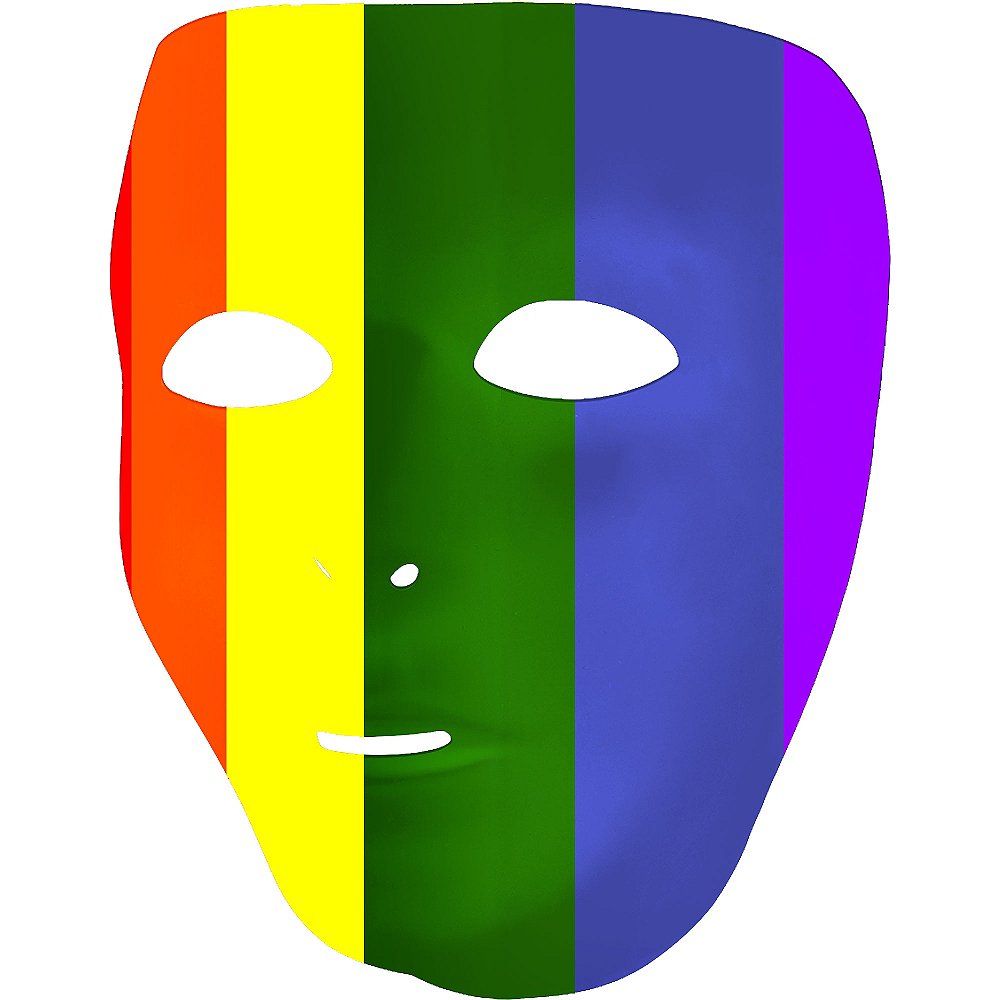 Rainbow Face Mask Image #2
