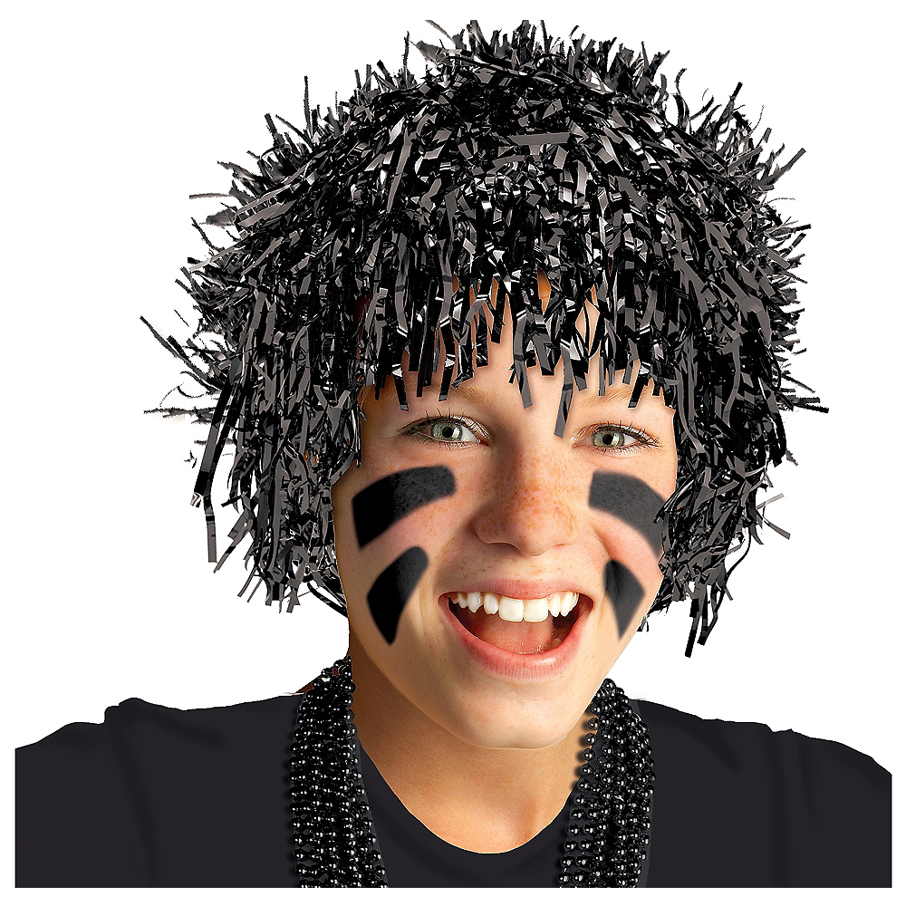 Black Tinsel Wig Image #1