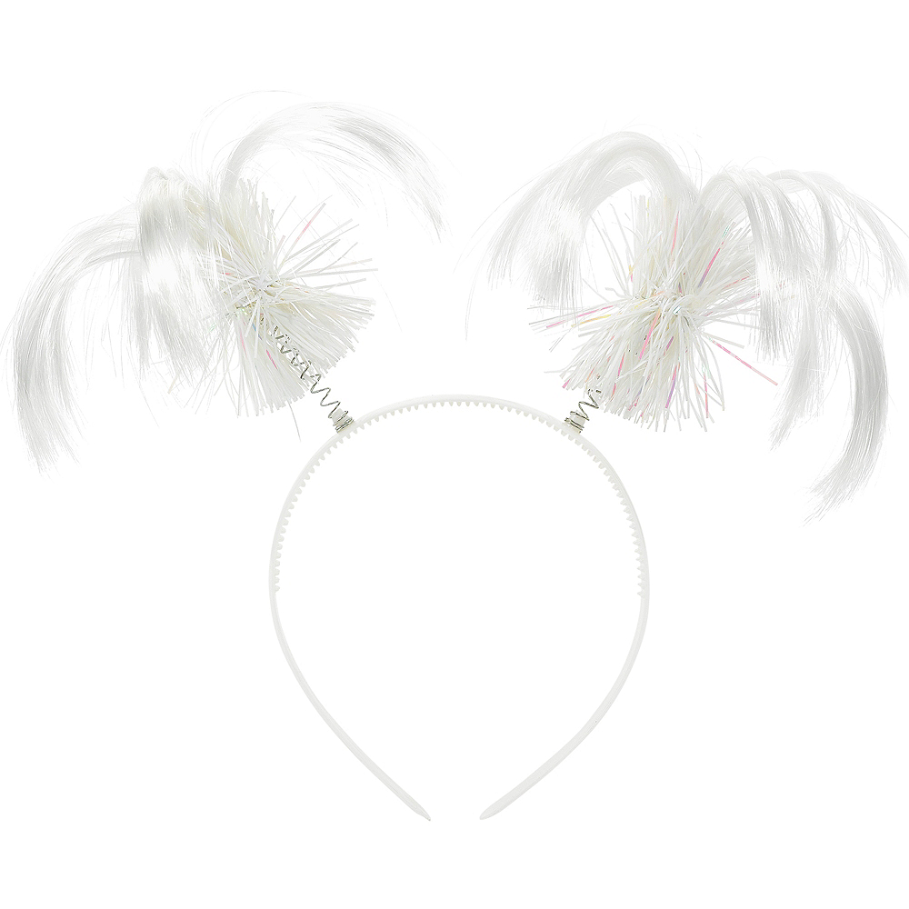 White Ponytail Head Bopper Image #1