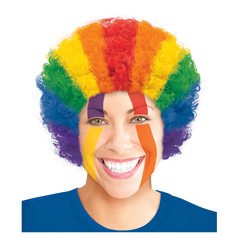 Rainbow Curly Wig Image #1