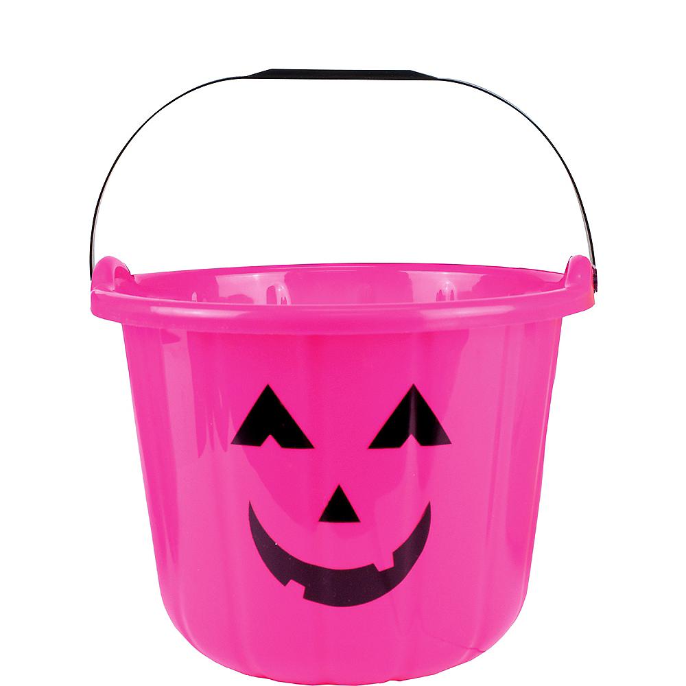 Pink Jack-o'-Lantern Treat Bucket Image #1