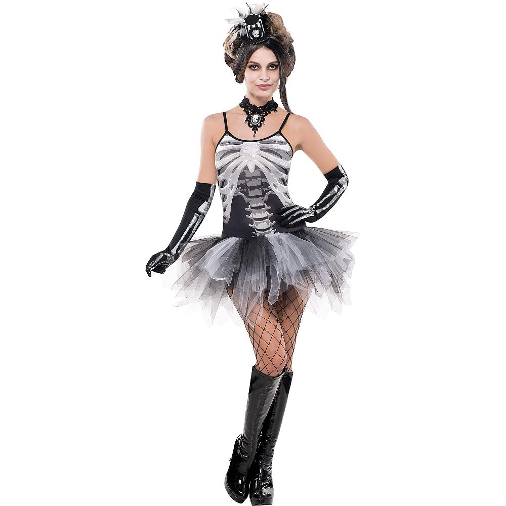 Adult Skeleton Petticoat Dress Image #1