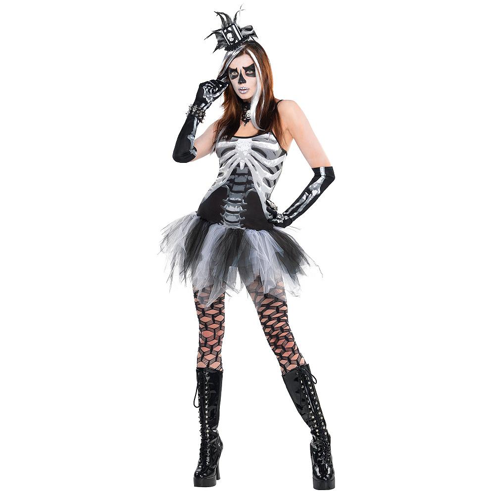 Adult Skeleton Petticoat Dress Image #2