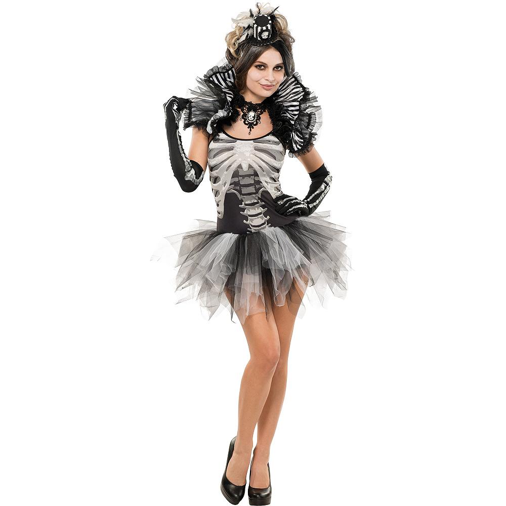 Adult Skeleton Petticoat Dress Image #3