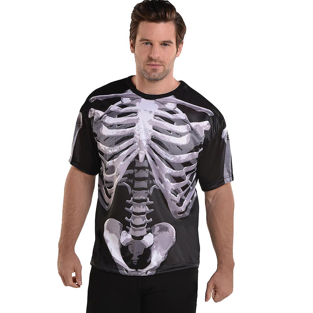 Adult Black & Bone T-Shirt - Skeleton Image #1