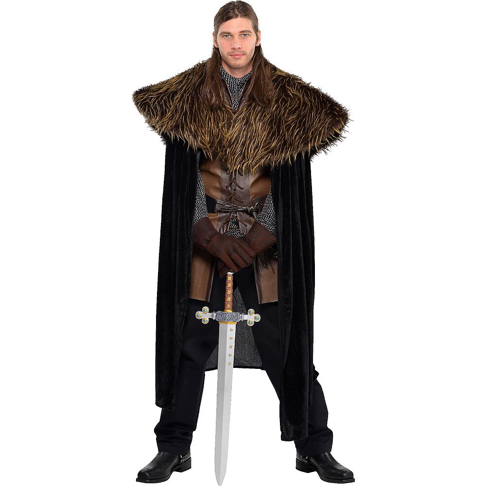 Adult Medieval Furry Shoulder Cape Image #1