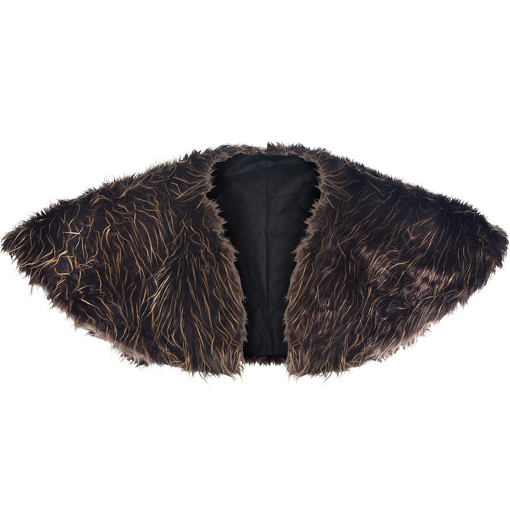 Adult Medieval Furry Shoulder Cape Image #2