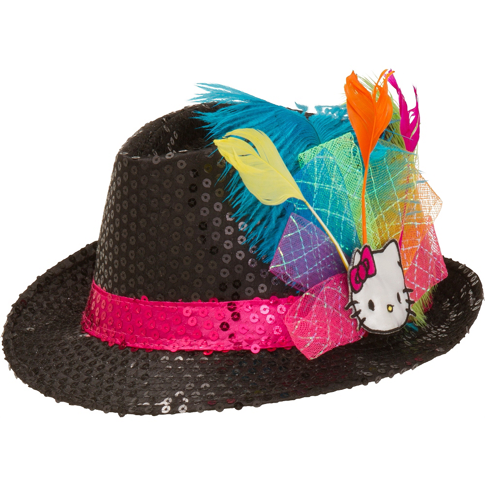 b9486c33b Hello Kitty Sequin Fedora 9in x 5 1/2in | Party City