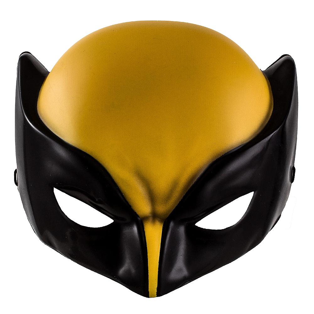 Child Plastic Wolverine Mask Image #1