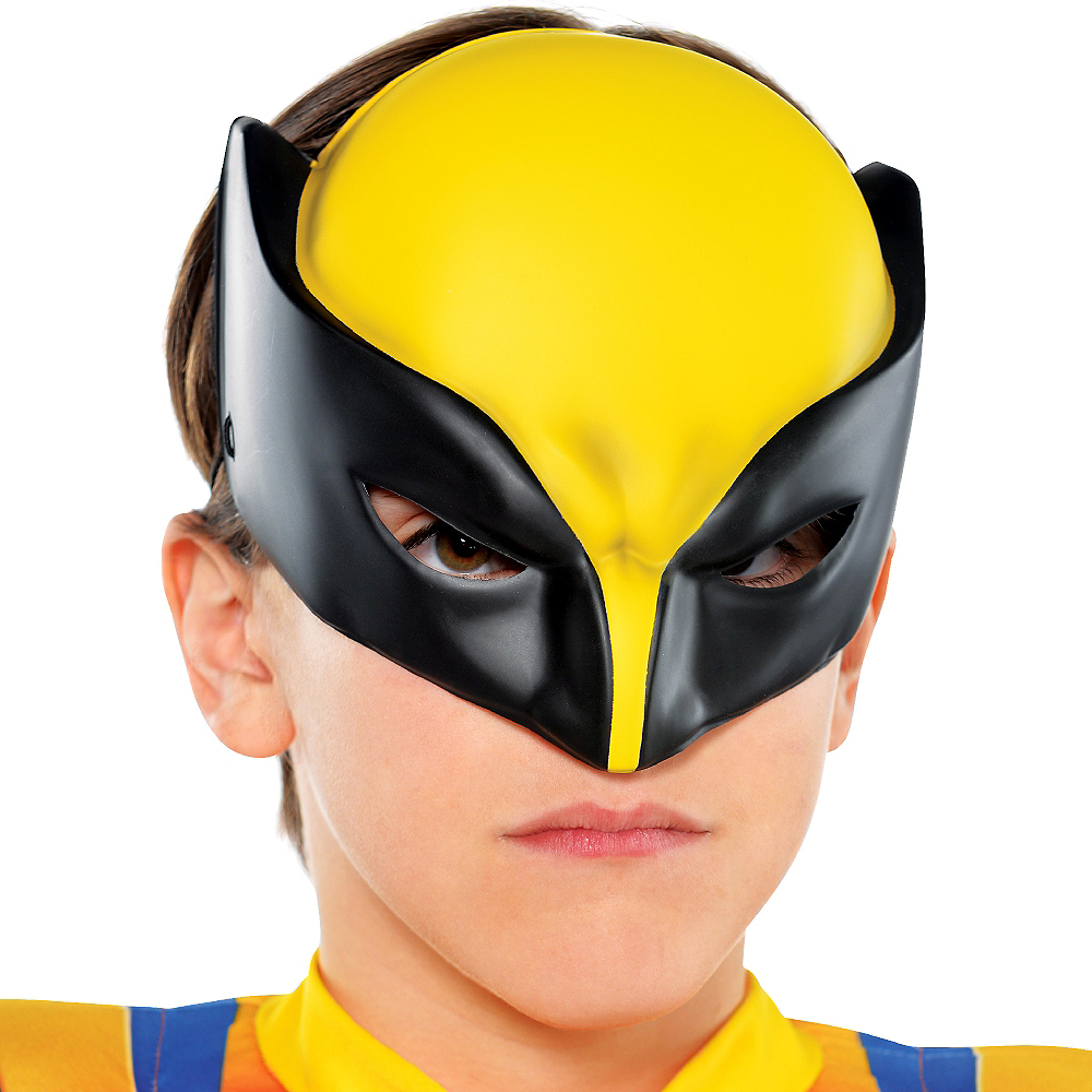 Child Plastic Wolverine Mask Image #2