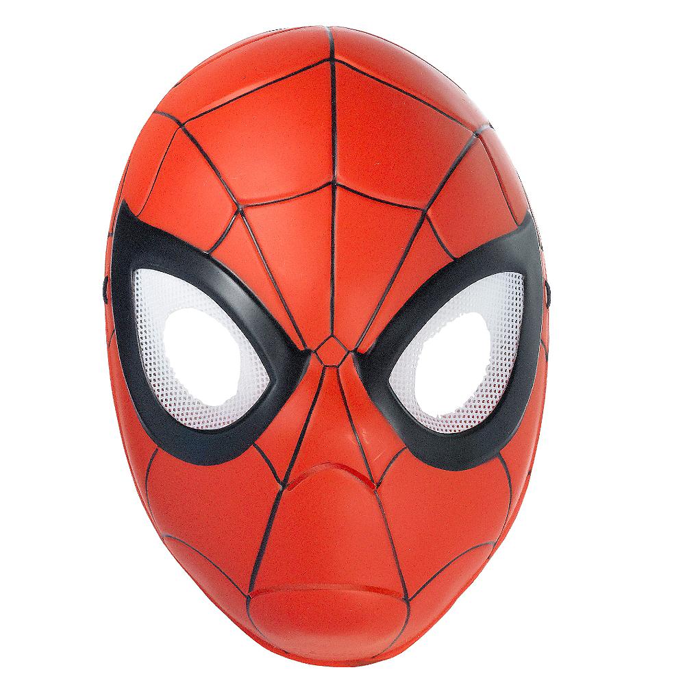 Child Plastic Spider-Man Mask Image #1