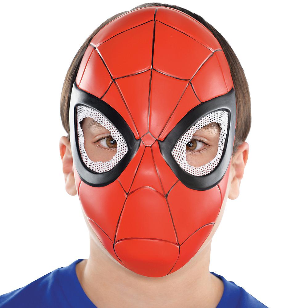 Child Plastic Spider-Man Mask Image #2