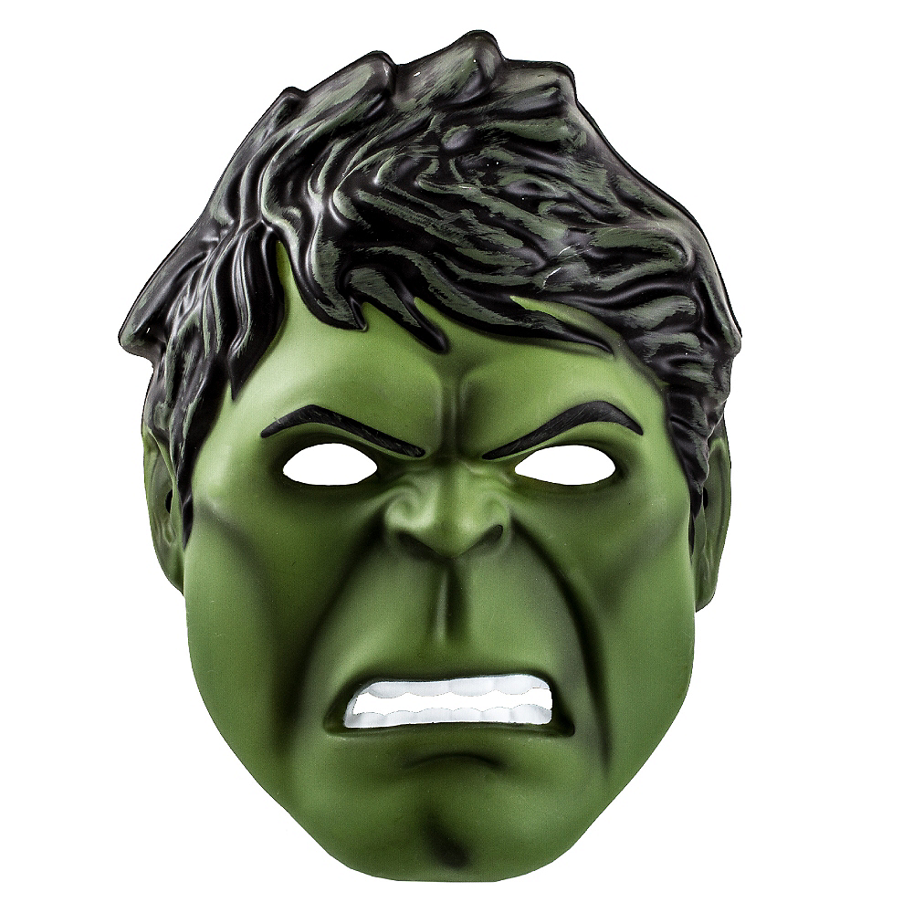 Child Plastic Hulk Mask Image #1
