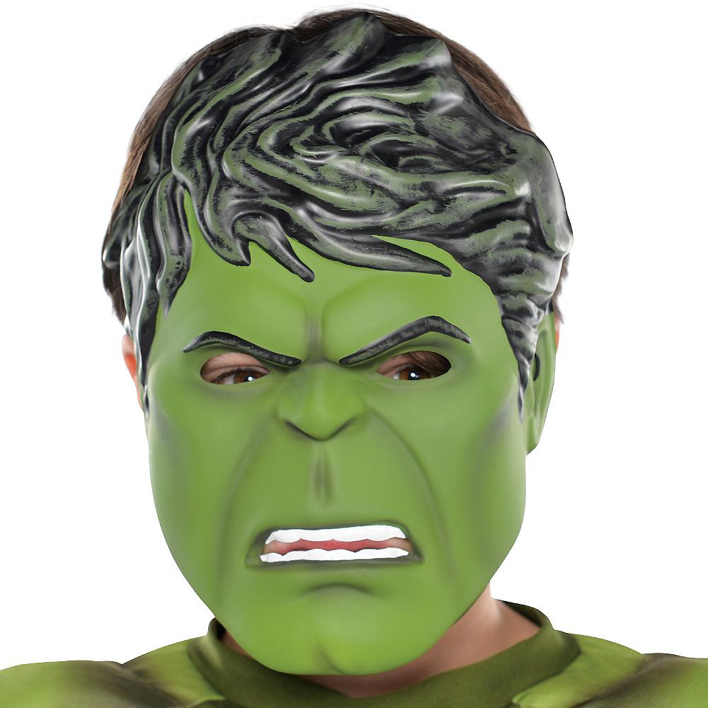 Child Plastic Hulk Mask Image #2