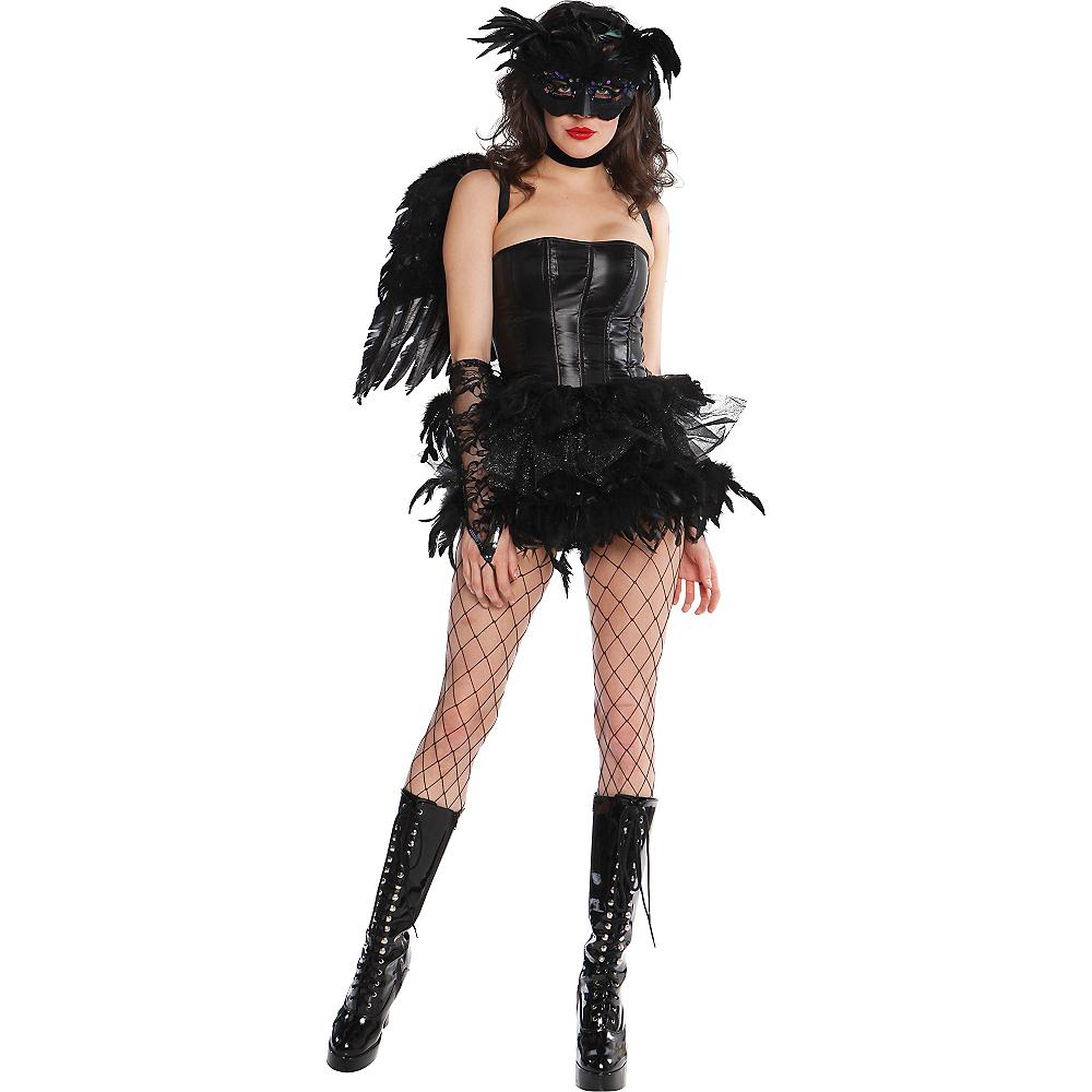 Adult Black Fantasy Feather Tutu Deluxe Image #2