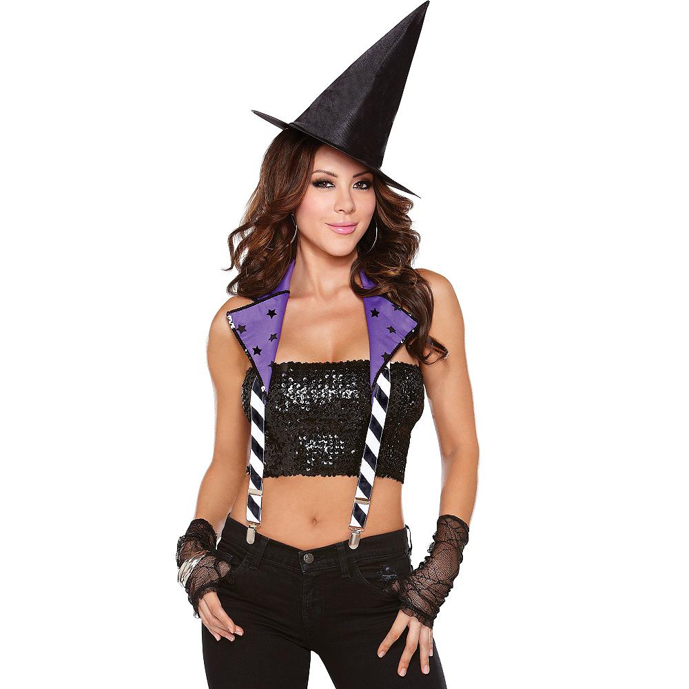 Witchy Way Purple Halter Suspenders Image #1